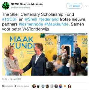Shell aast op vaste plek in basisonderwijs met nieuwe lesmethode 'Maakkunde'