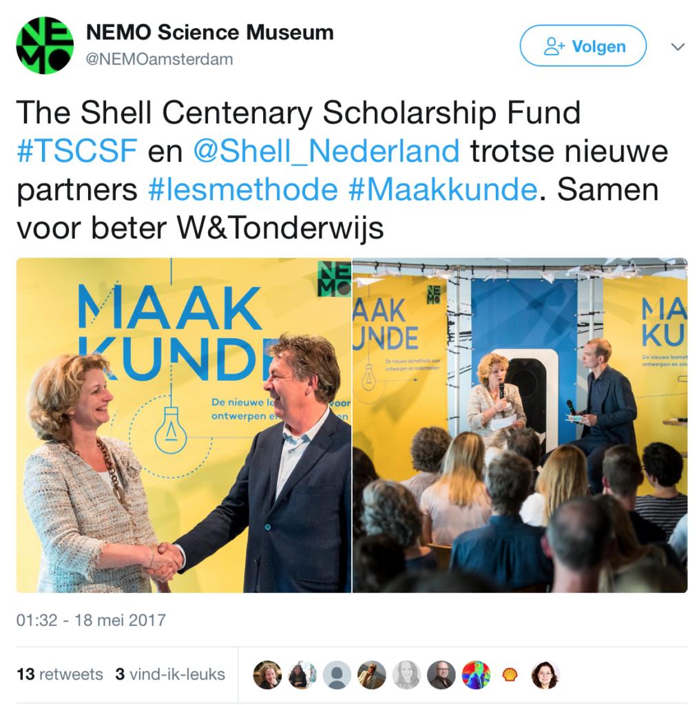 Shell wil vaste plek in basisonderwijs met Maakkunde