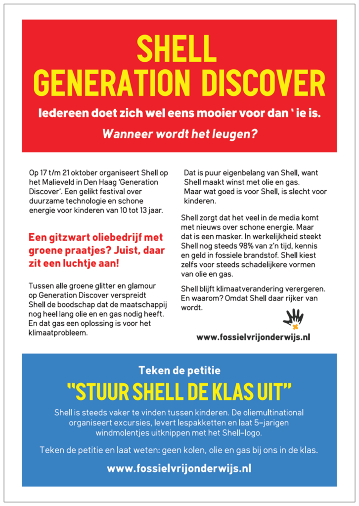 Flyers ouders Generation Discover Shell