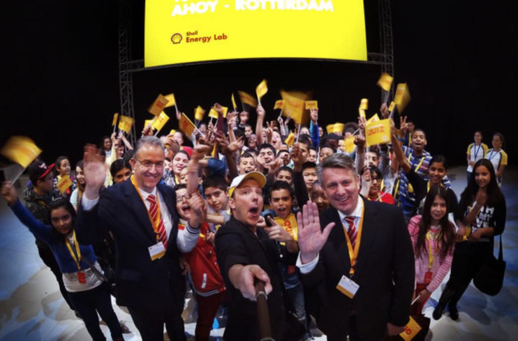 Burgemeester Aboutaleb (Rotterdam) opent Shell-event voor kinderen met Ben van Beurden